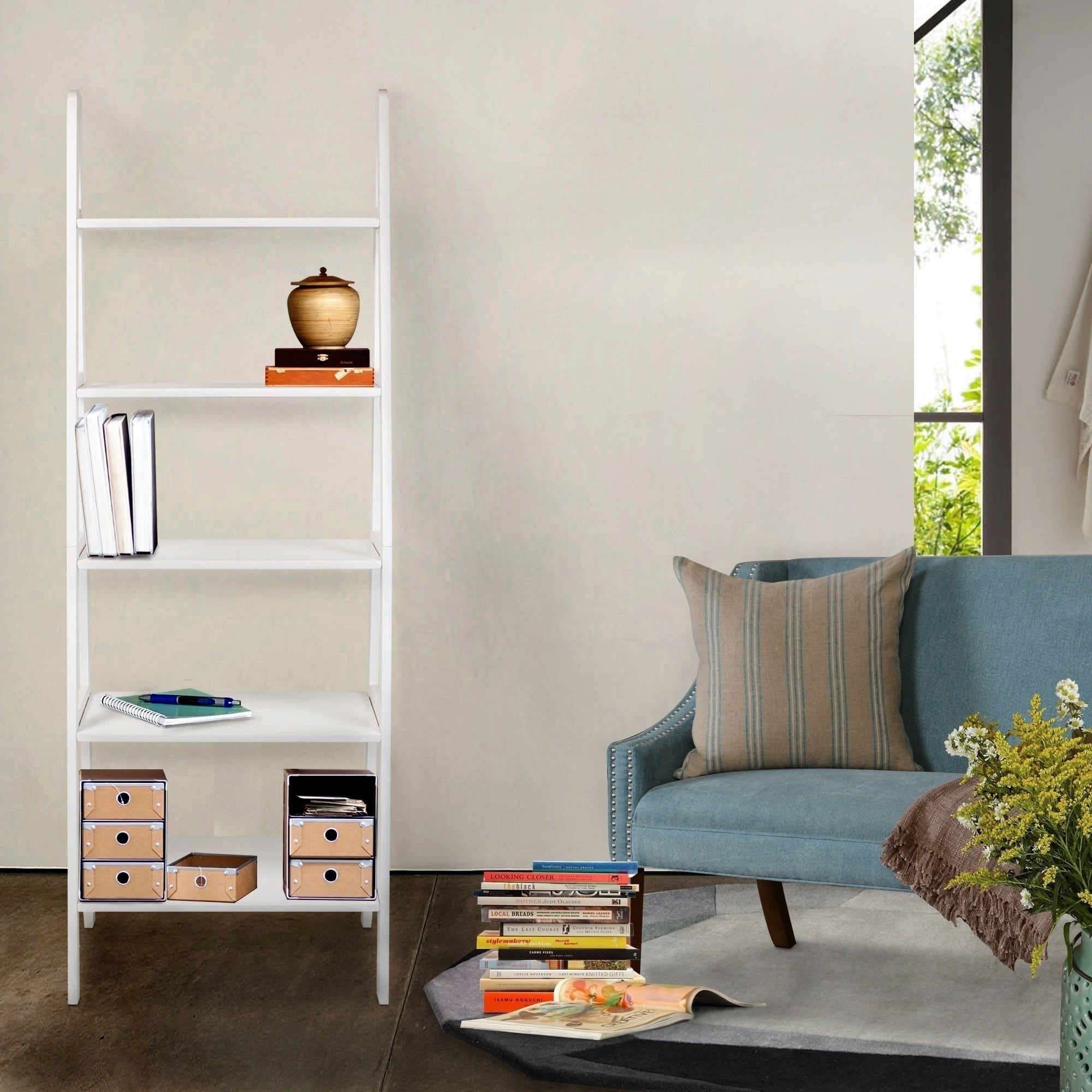 Five-shelf Ladder Bookcase