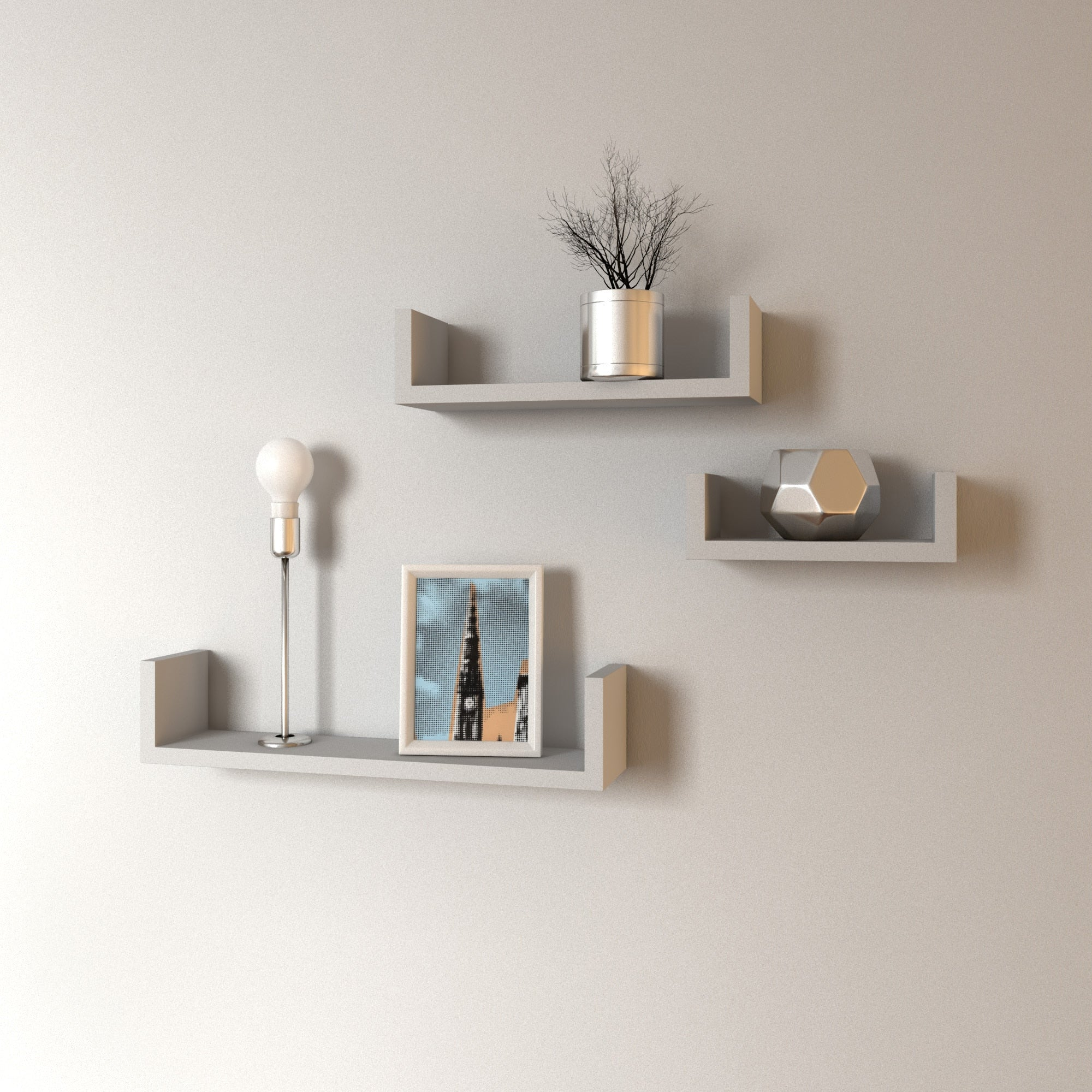 Floating U Shelves