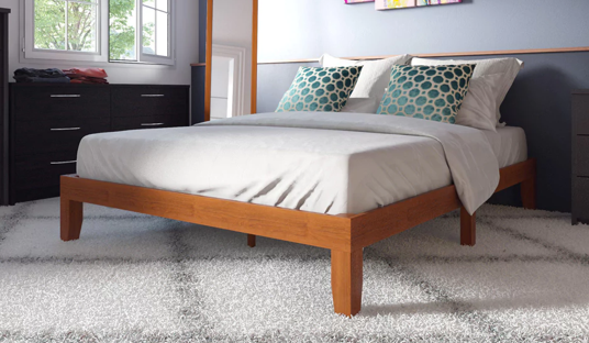 12-inch Solid Wood Queen-size Platform Bed
