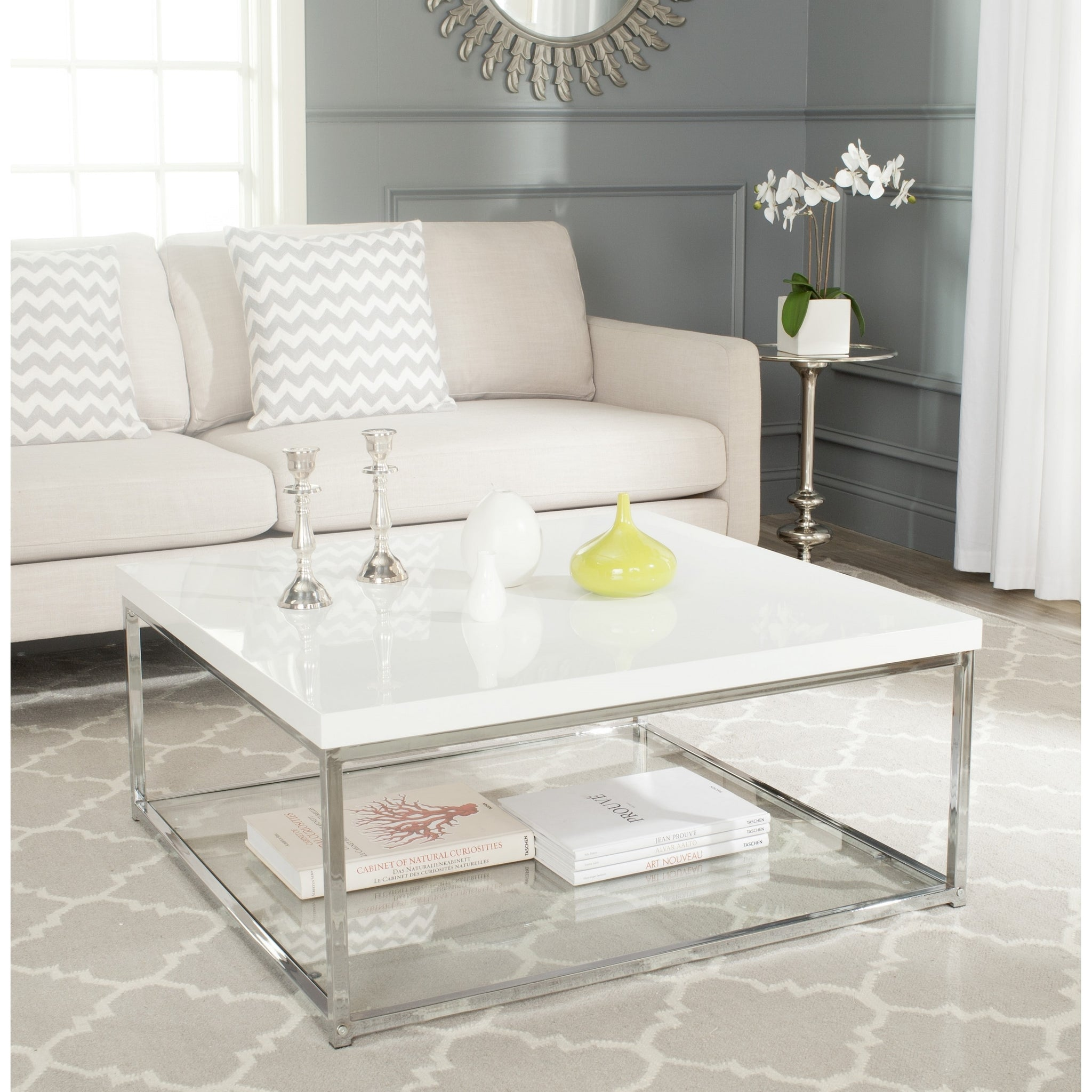 White/Chrome Coffee Table
