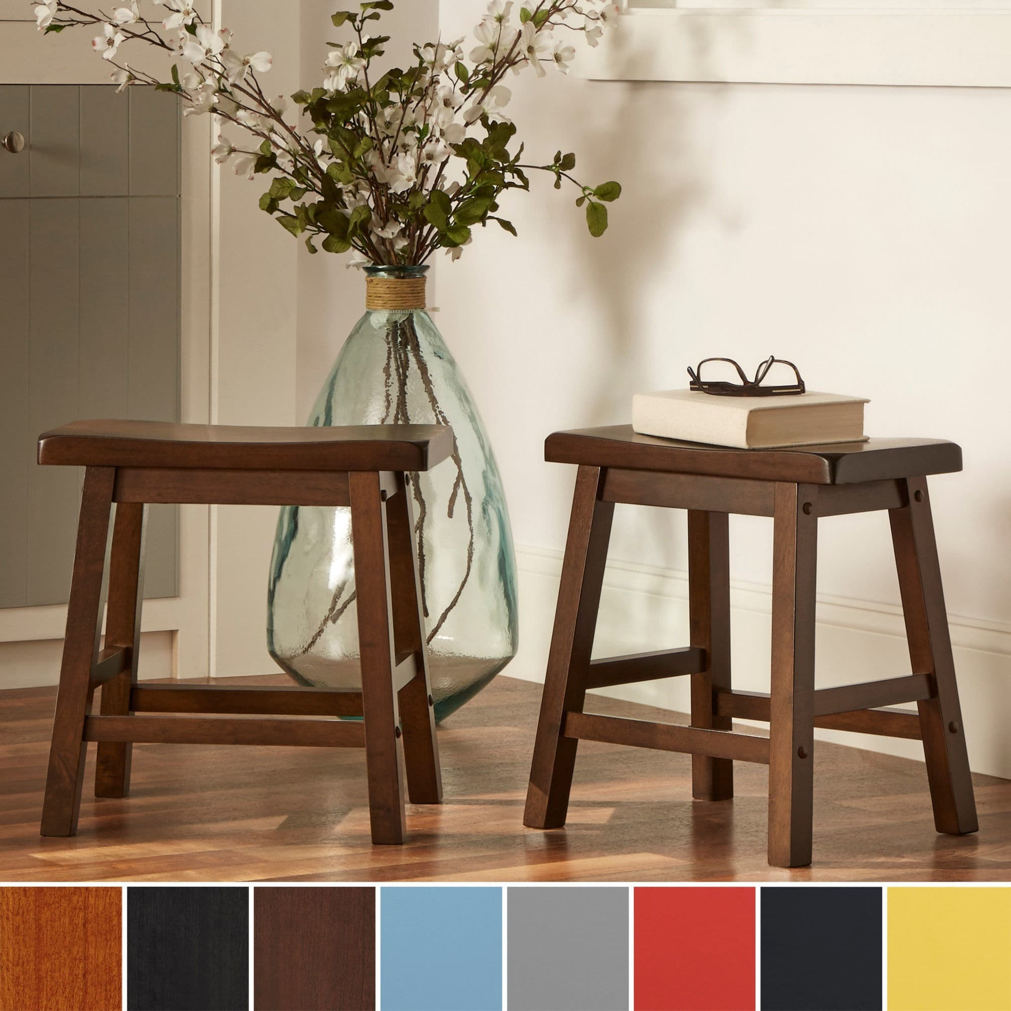 18-inch Backless Stool (Set of 2)