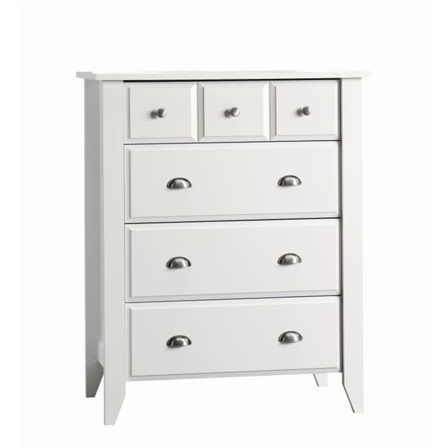 Matte White Four-drawer Chest