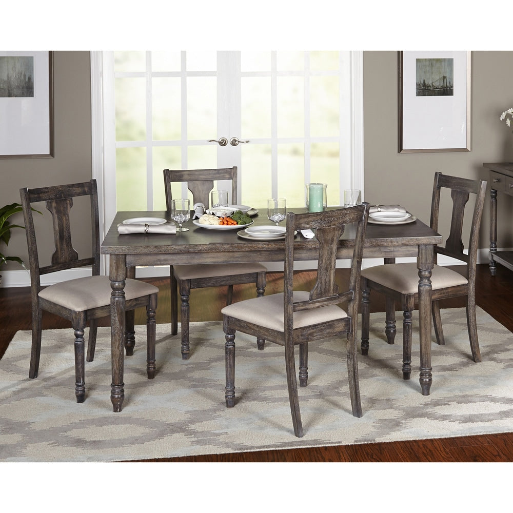 Five-piece Burntwood Dining Set