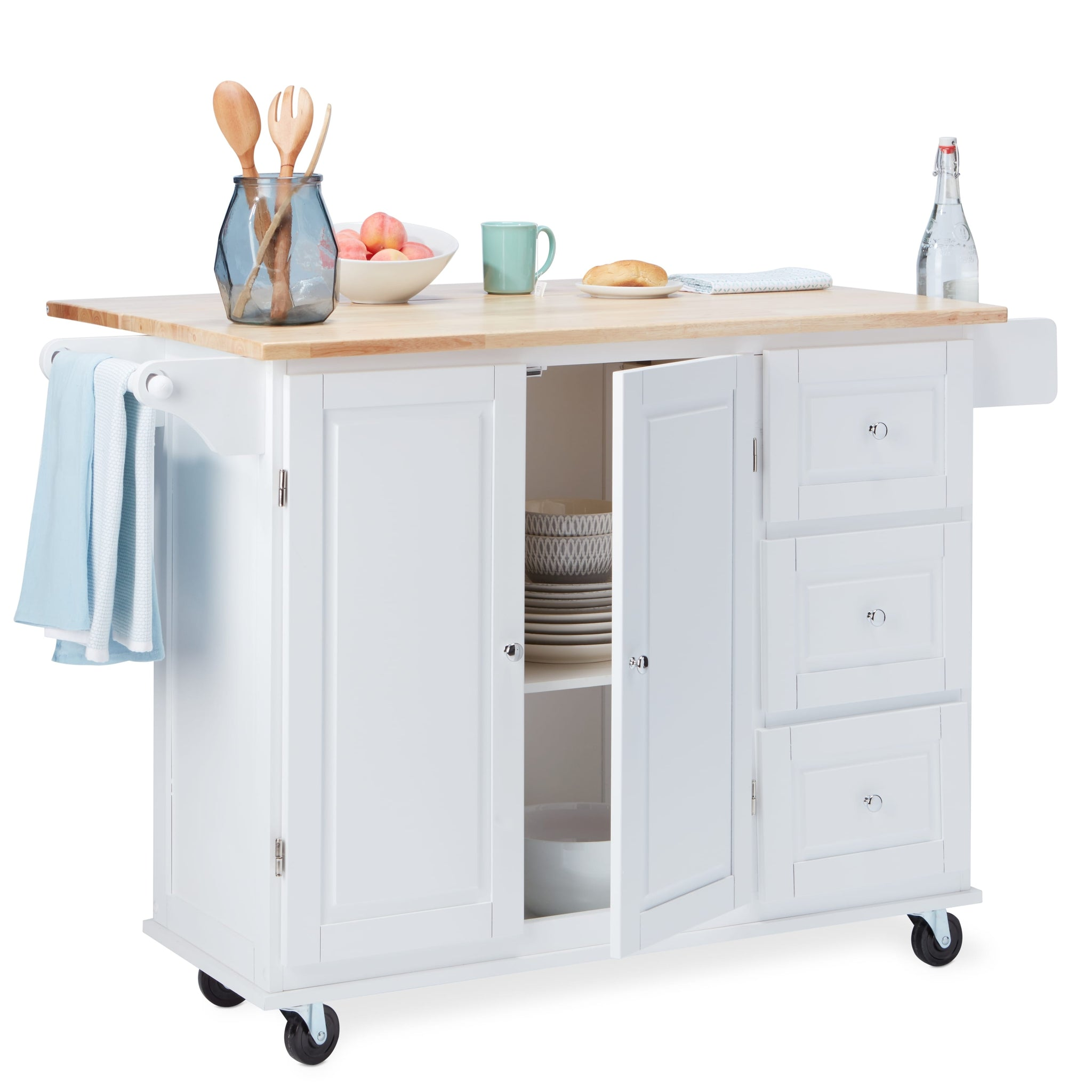 Three Drawers Kitchen Cart