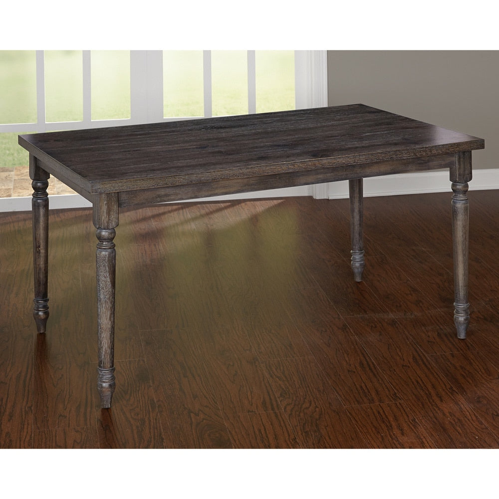 Gray Burntwood Dining Table