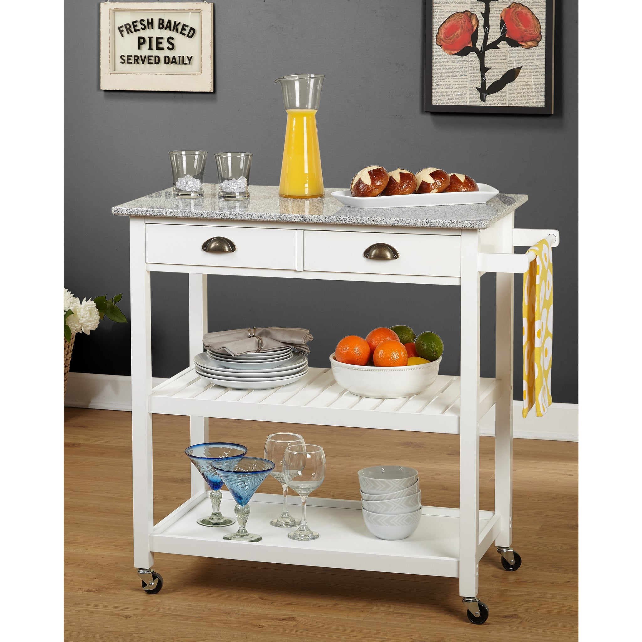 Simple Living Oregon Rolling Kitchen Island