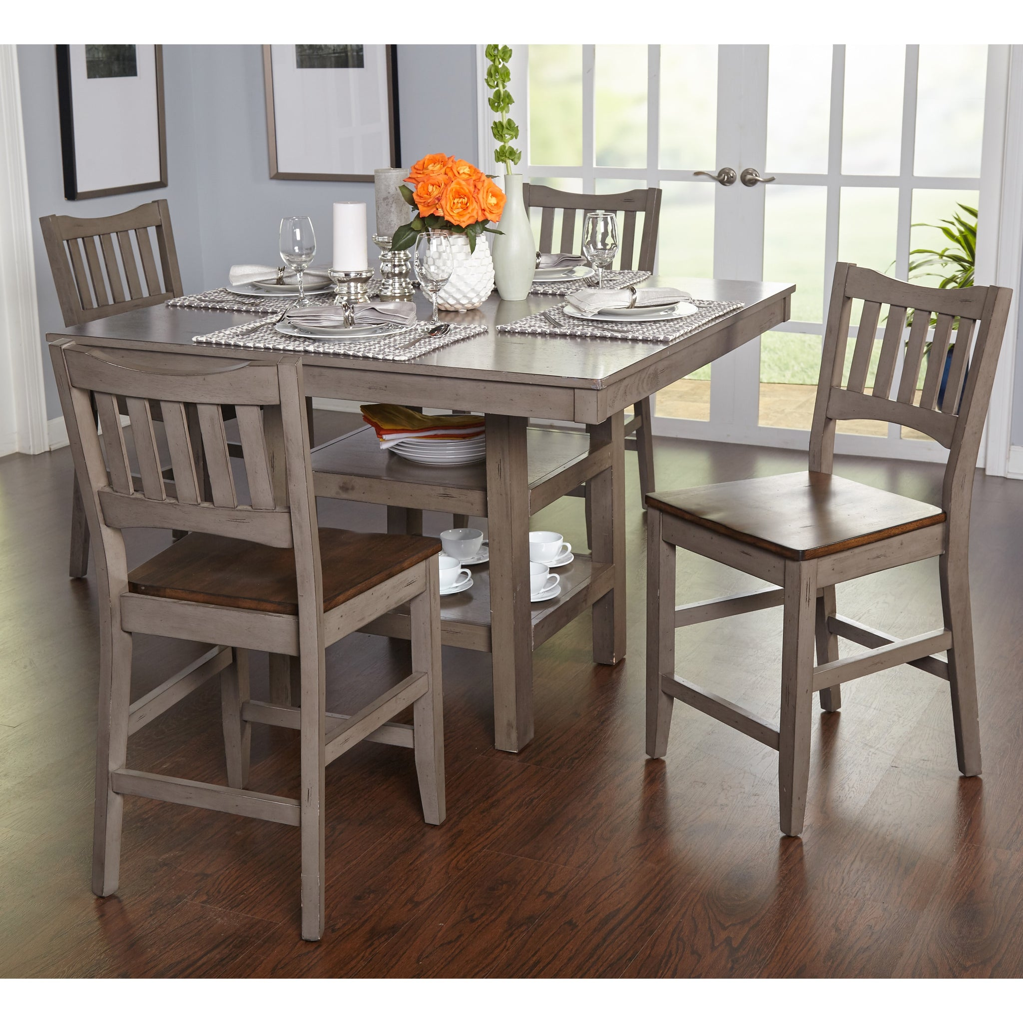 Counter Height Five-piece Dining Set