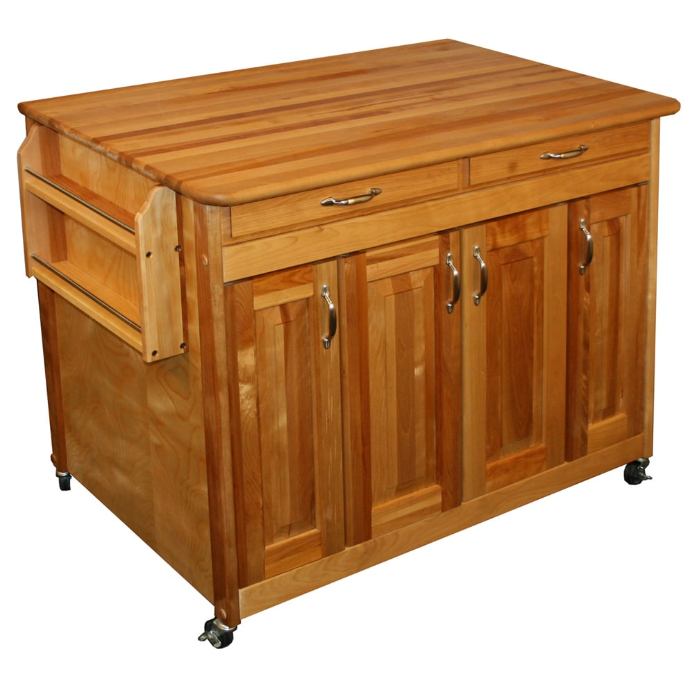 Solid Wood Catskill Craftsman Butcher's Block Workcenter