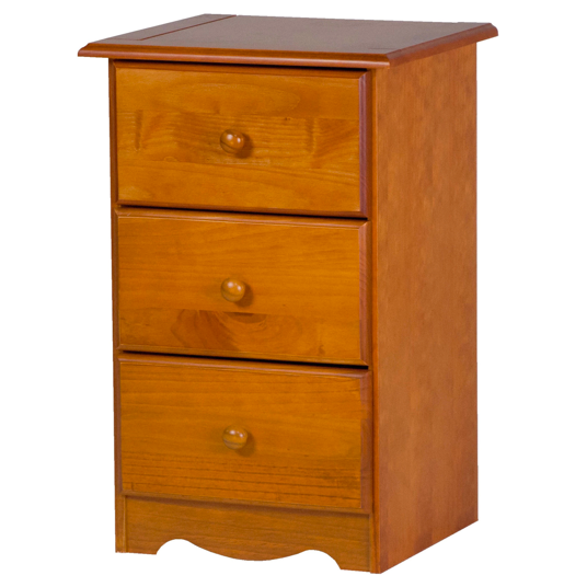 Solid Wood Three-Drawer Night Stand