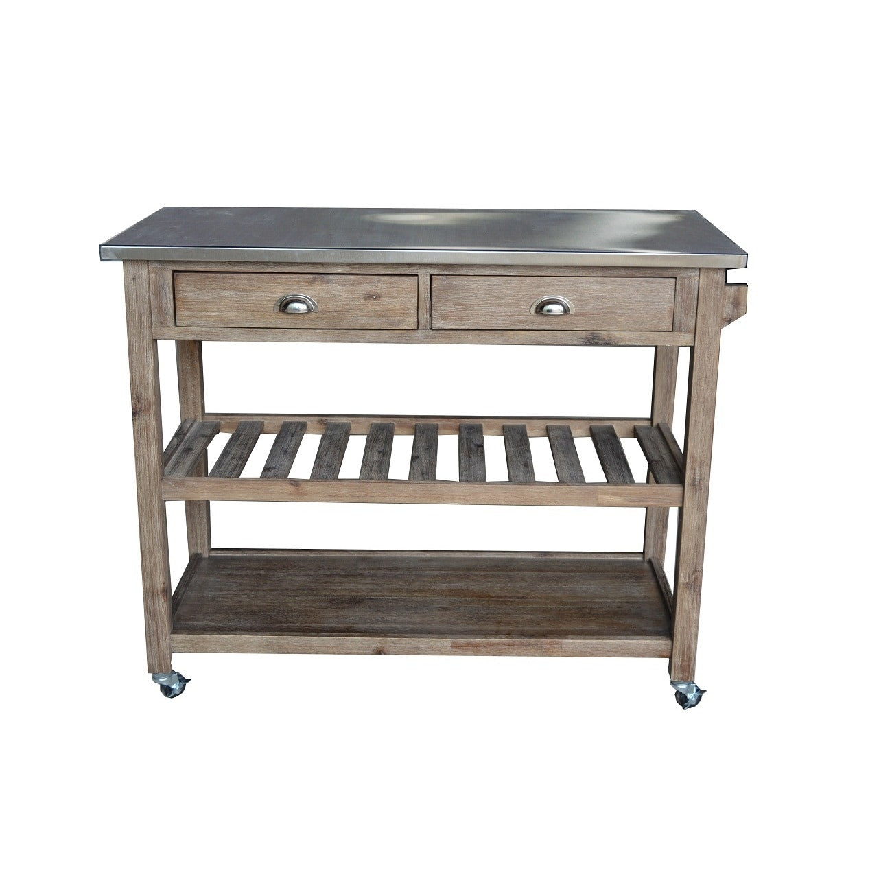 Wire-Brush Kitchen Cart