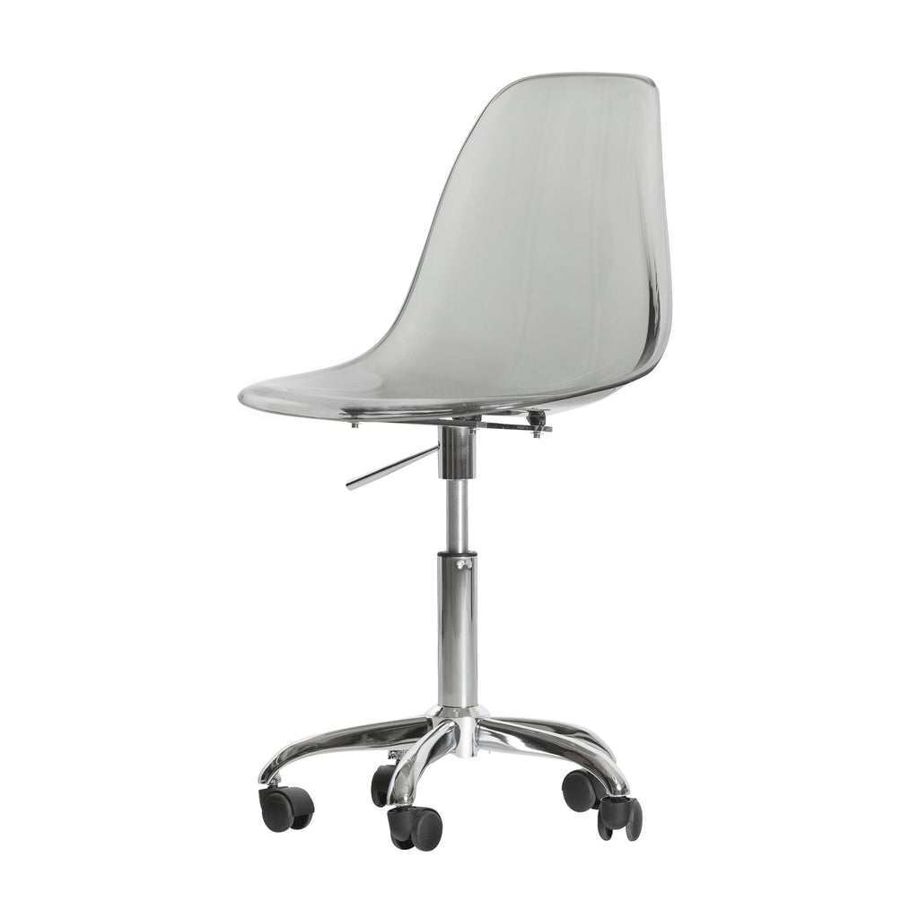 Clear Acrylic Wheeled Office Chair Handy