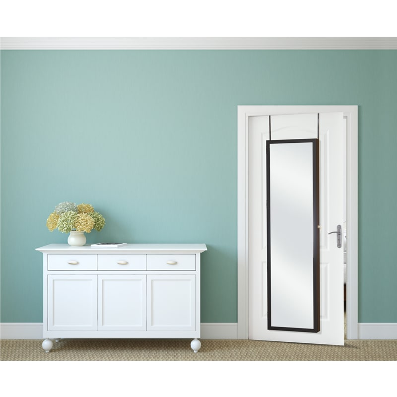Mirror-style Over-the-door Super-Size Jewelry Armoire