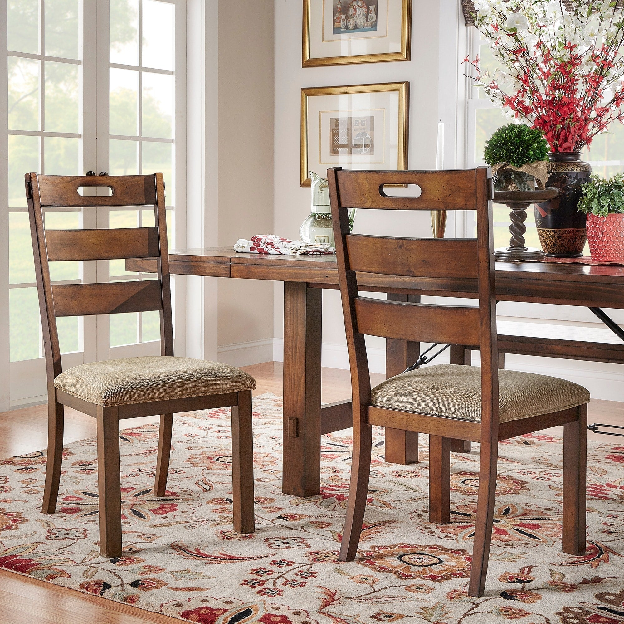 Rustic Oak Classic Dining Chair