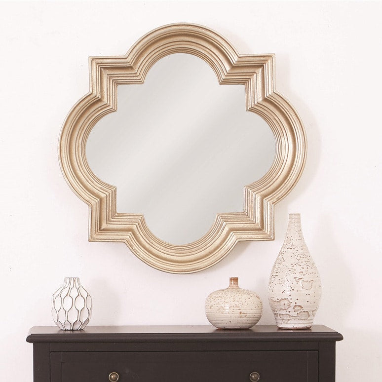 Wall Mirror with Platinum Gold Frame