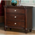 Three-Drawer Wood Nightstand