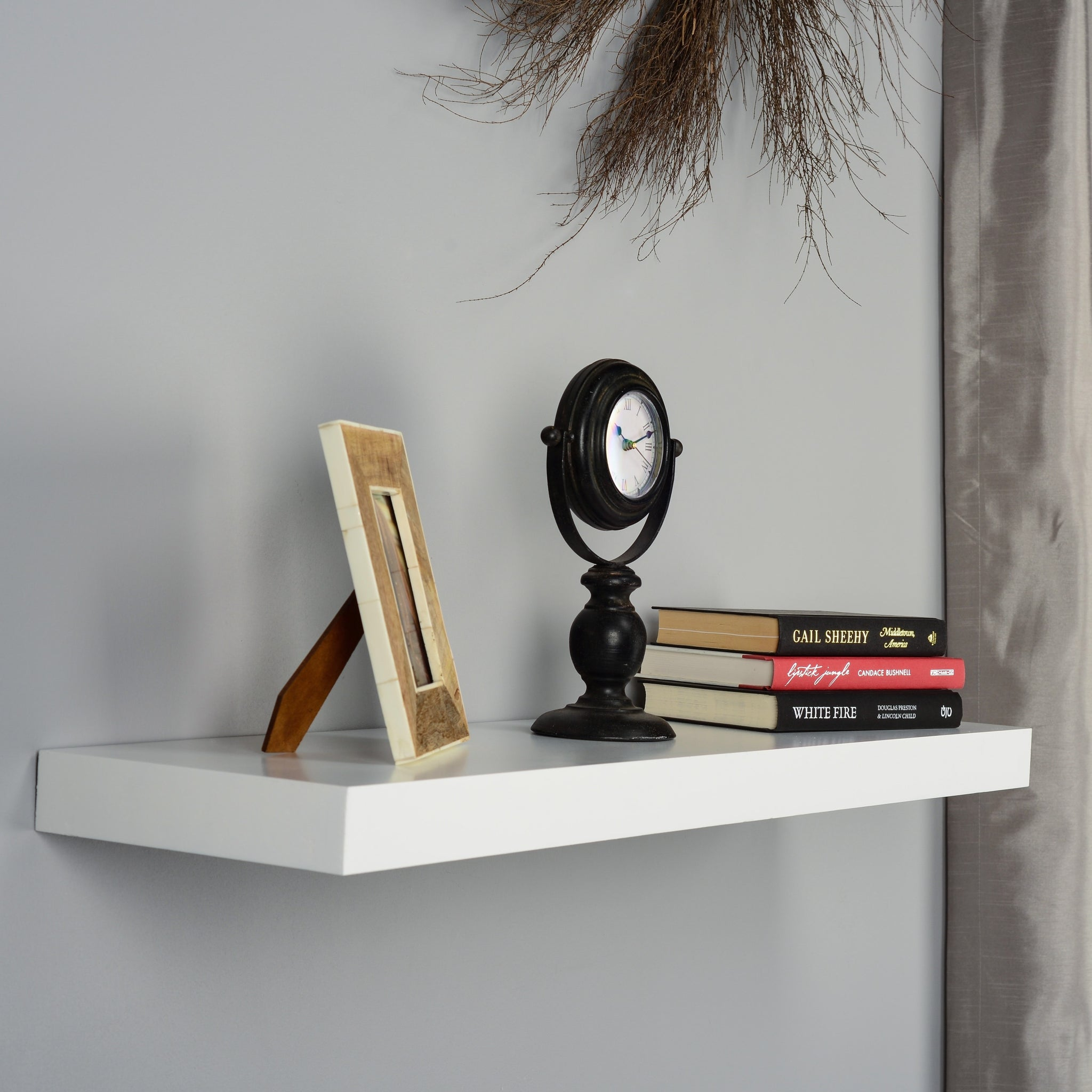 36-inch White Floating Shelf