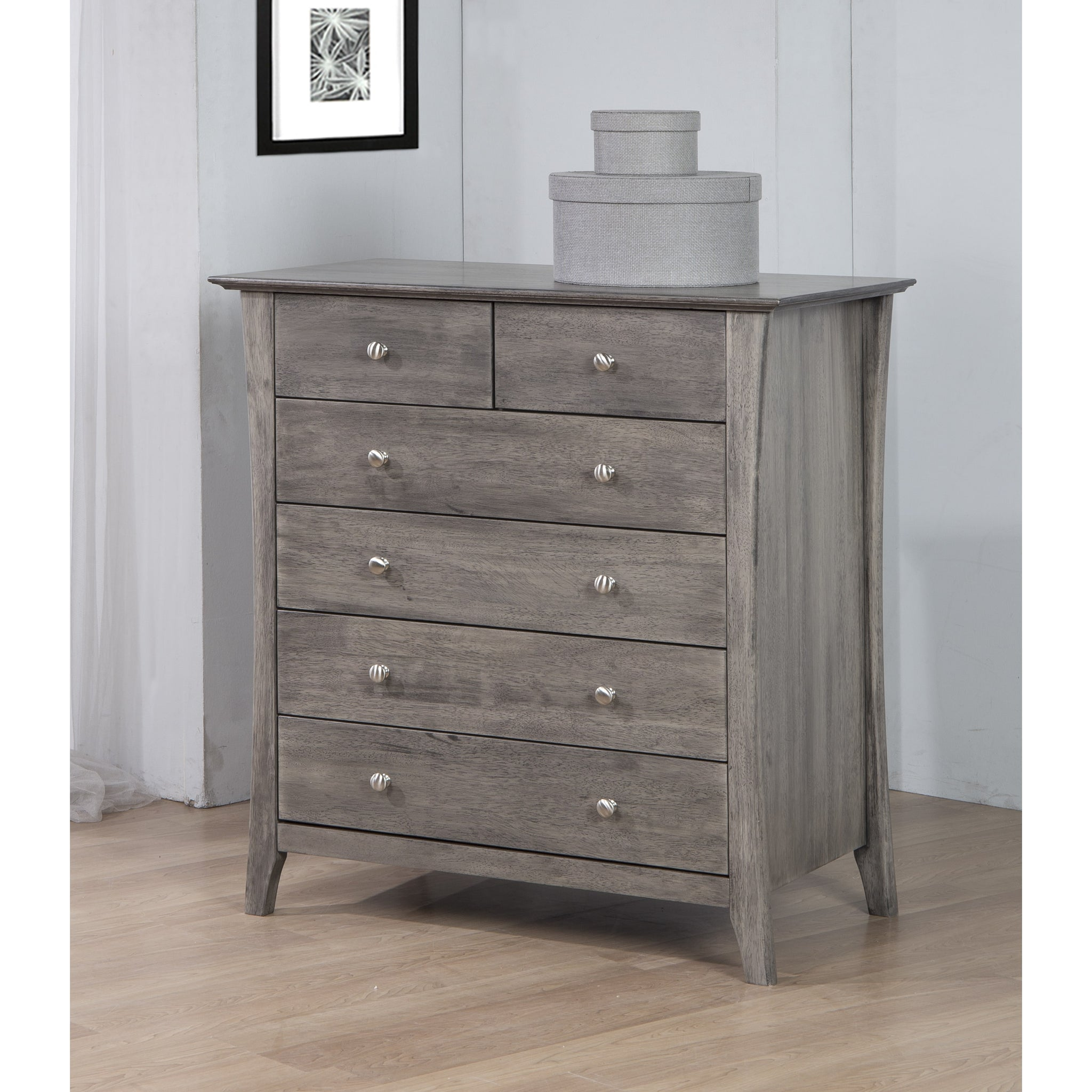 Burnt Gray Six-drawer Chest