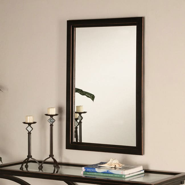 Hi-Line Black Finished Wall Mirror