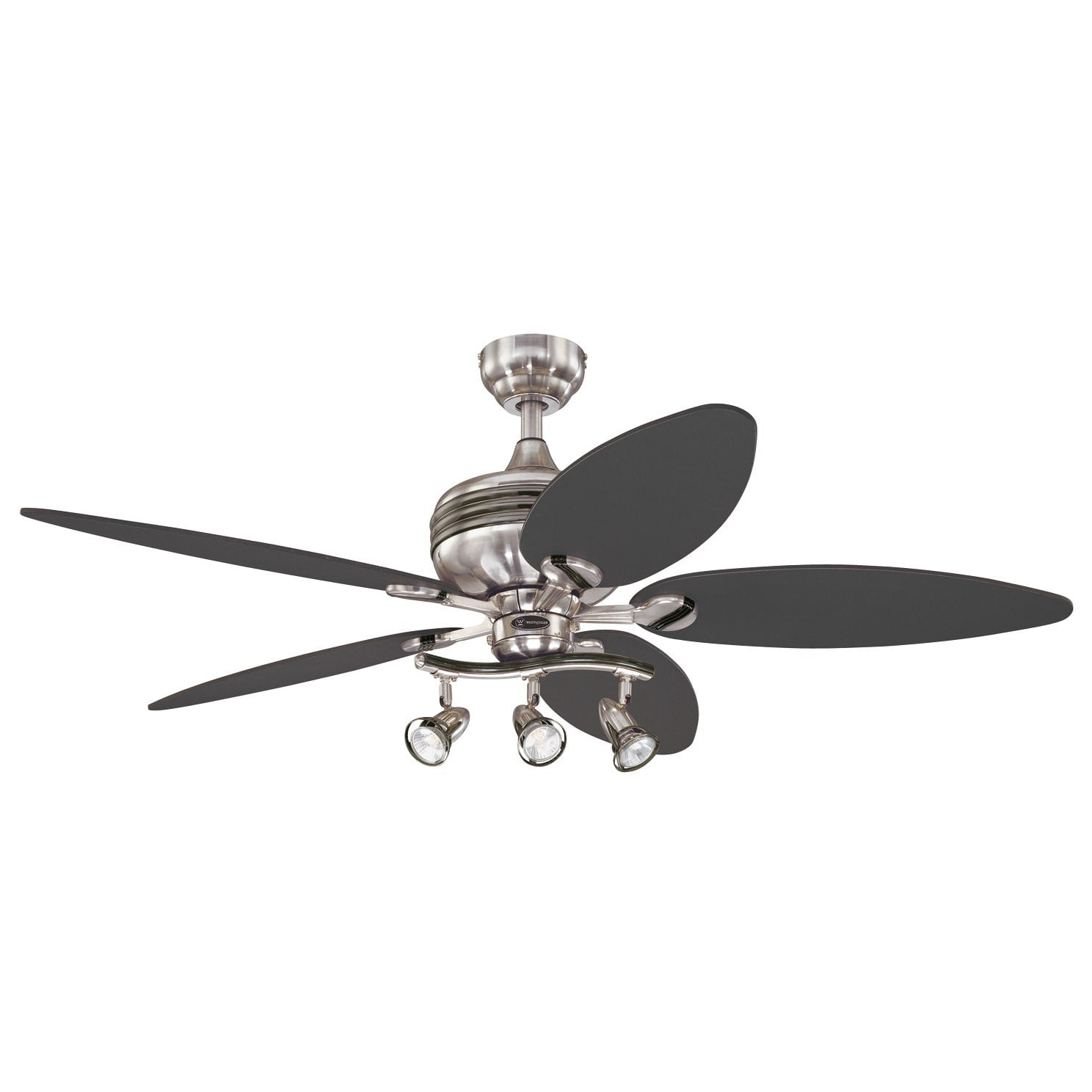 52-Inch Graphite & Brushed Nickel Three-Light Five-Blade Xavier Ceiling Fan