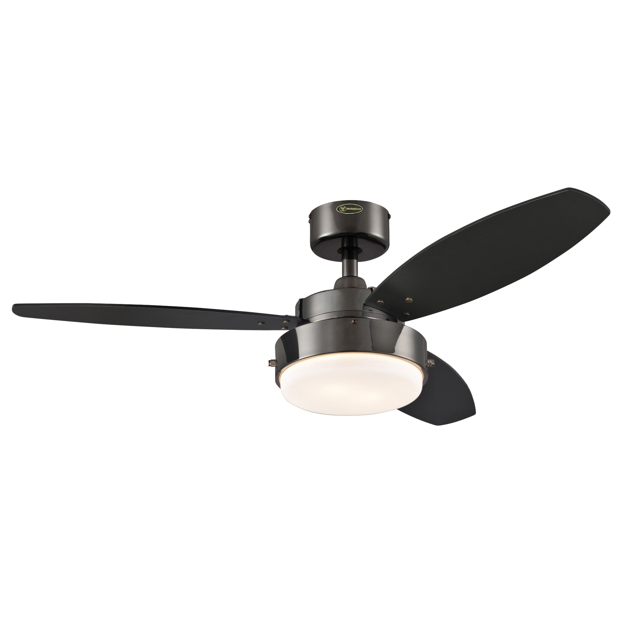 42-Inch Gunmetal Three-Blade Reversible Ceiling Fan With Light
