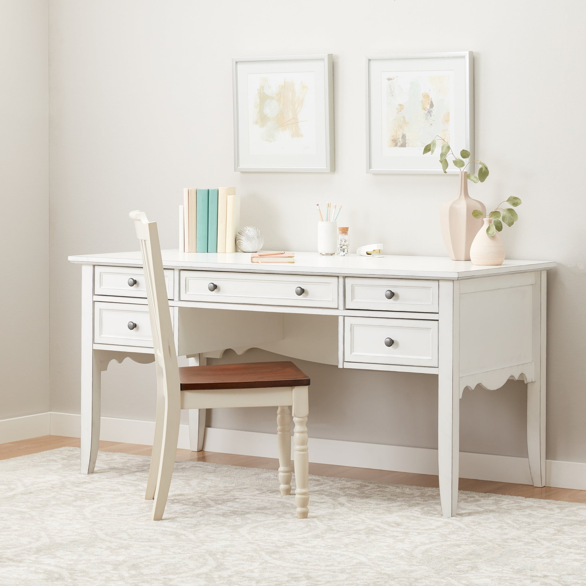 White Classic Writing Desk