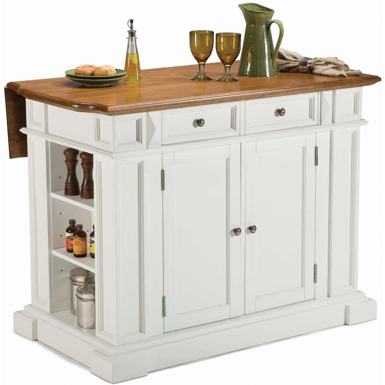 Distressed Oak Kitchen Island