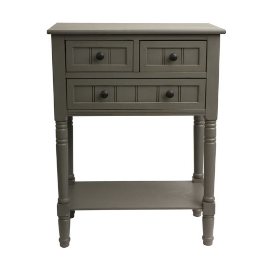 Wood Three-drawer Console Table