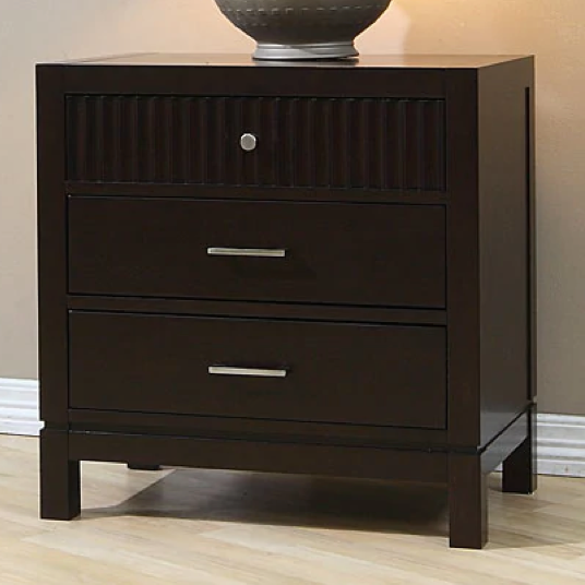 Wood Three-drawer Nightstand