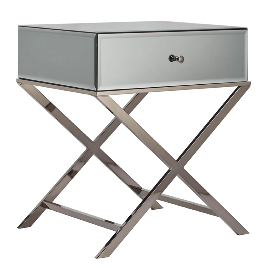 X-Base Mirrored Accent Campaign Table