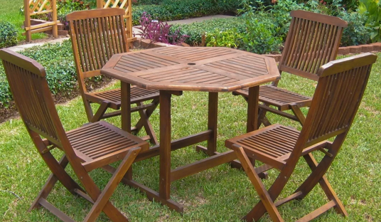 5-piece Stowaway Patio Dining Set