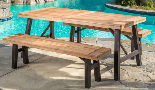 3-piece Outdoor Picnic Dining Set