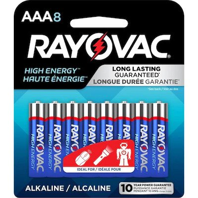 AAA Batteries - Higher Energy Alkaline - 8 Pack