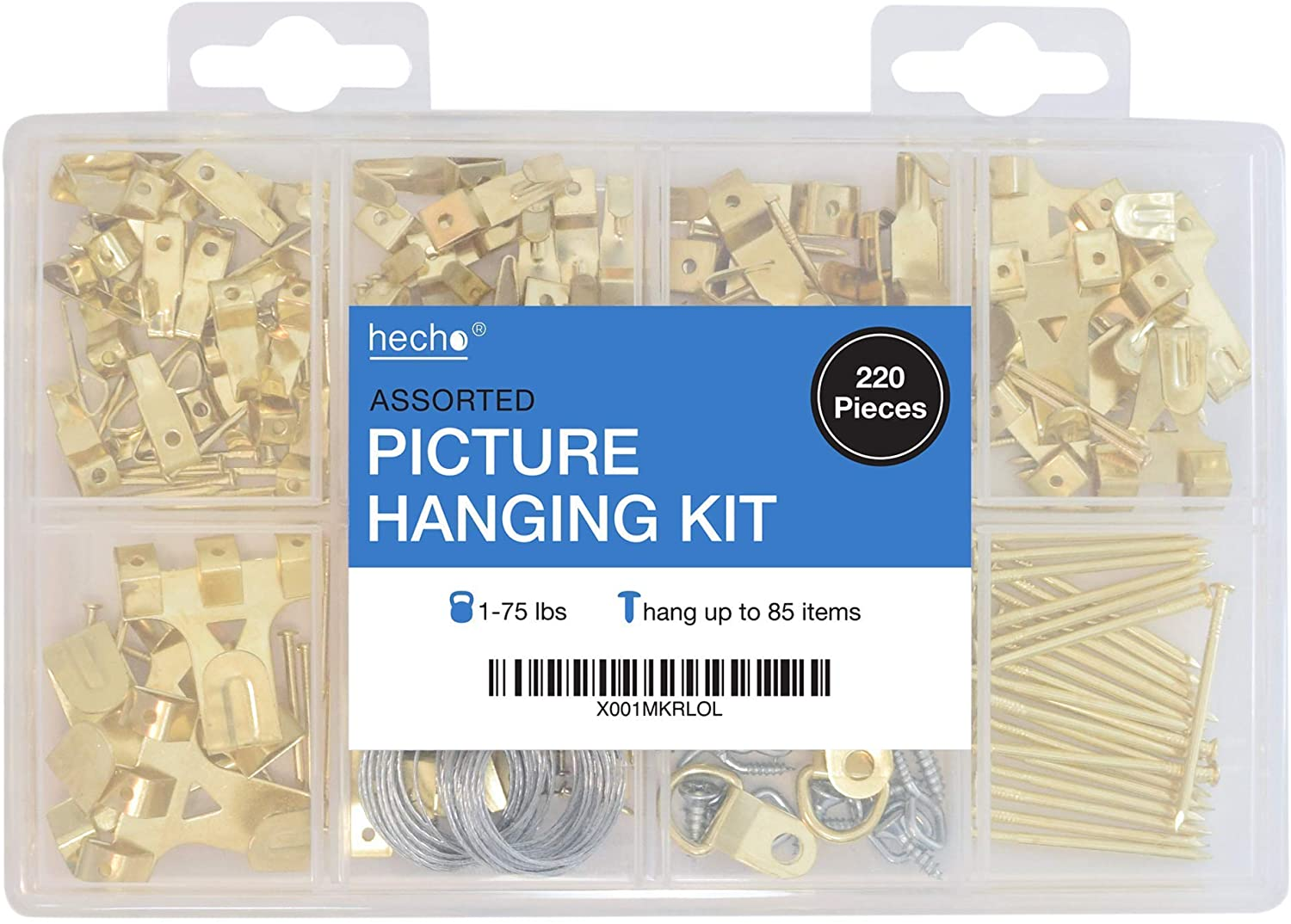 Picture Hanging Kit | Wire, Hangers, Hooks, Nails & Hardware (Product Only, No Installation)