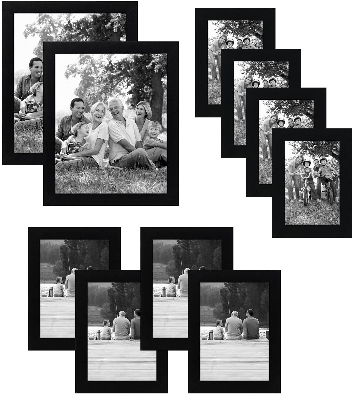 Picture Frame Set | Includes 8x10, 5x7, and 4x6 (Product Only, No Installation)