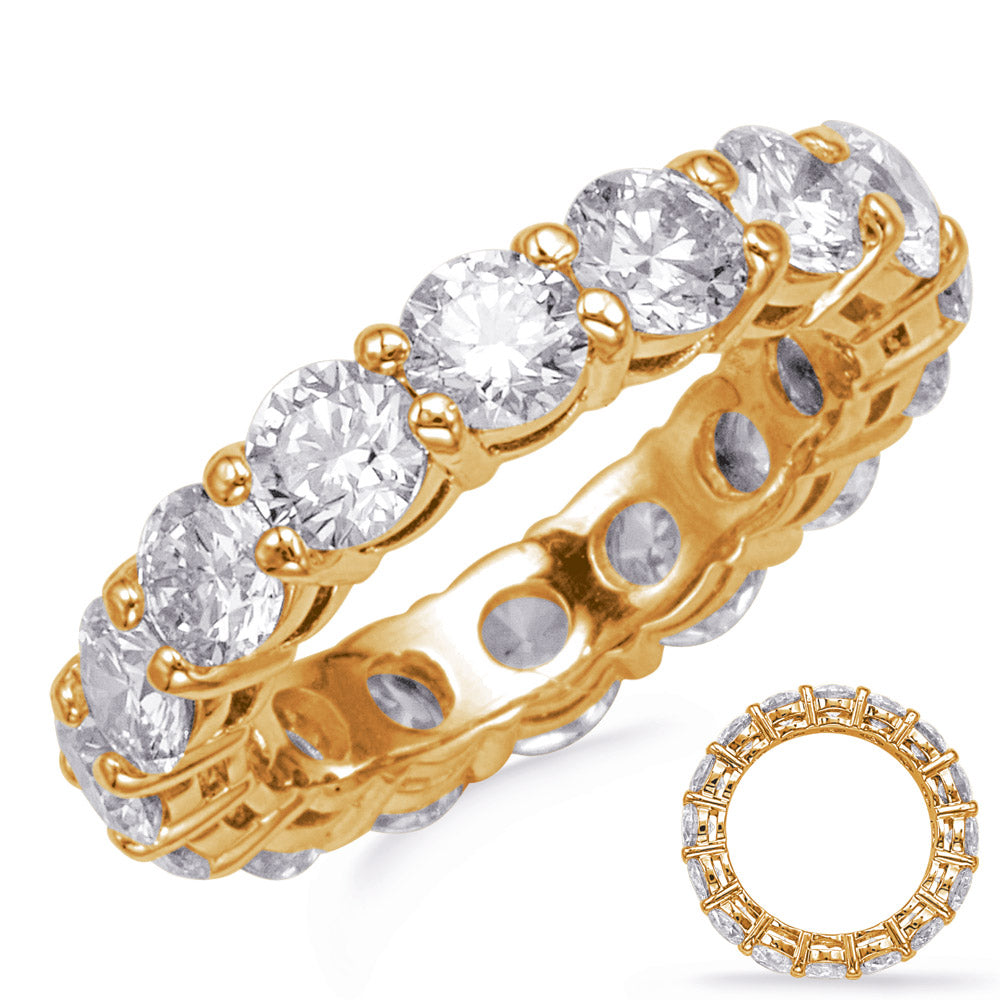Yellow Gold Shared Prong Eternity Band