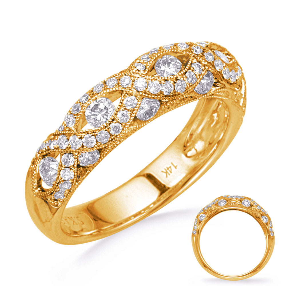 Yellow Gold Diamond Fashion Band