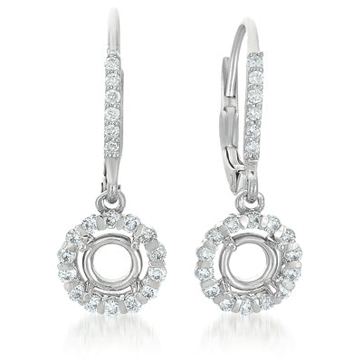 White Gold Earrings. For 2 x 50 Ptrs