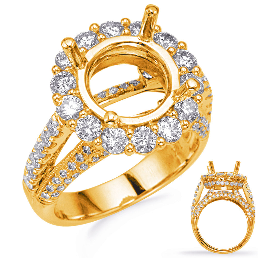 Yellow Halo Engagement Ring