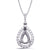 Diamond Pendant For 8X5mm Pear Center