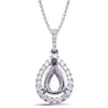 Diamond Pendant For 9X6mm Pear Center