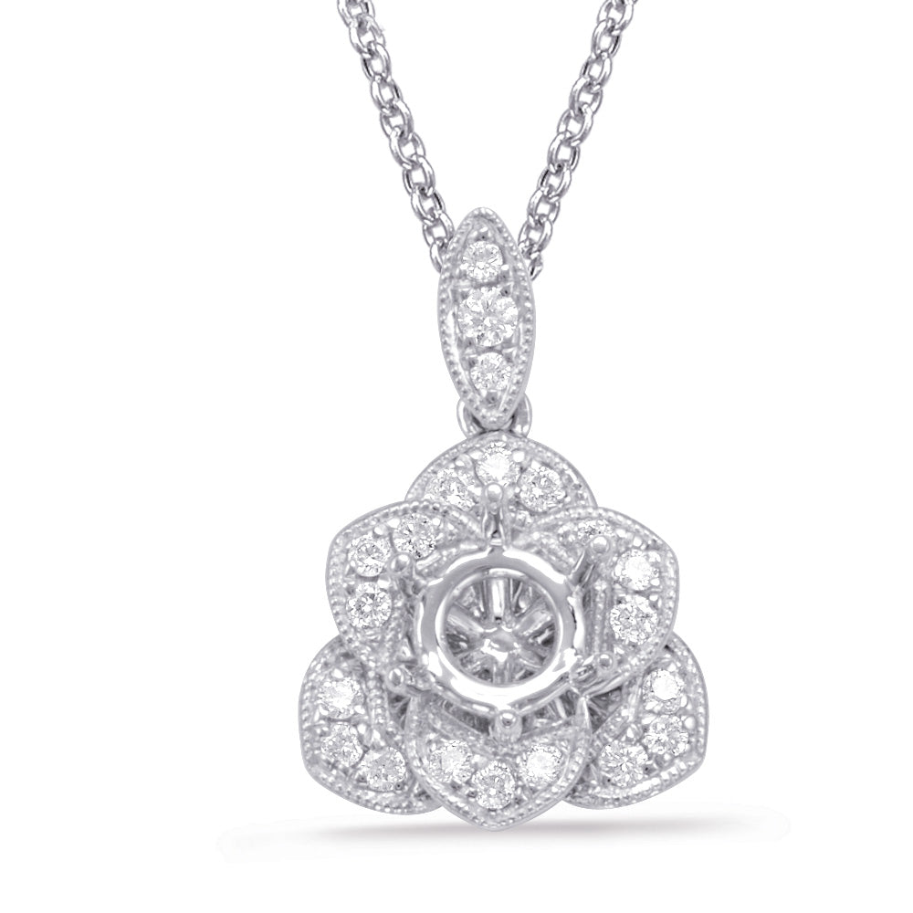 Diamond Pendant For 0.33ct Round