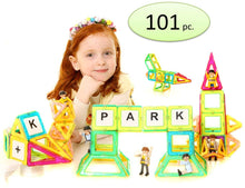 Magnetic Building Block Tiles |101-Piece Set | 3 Days Delivery