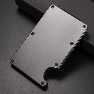 Metal Money Clip Credit Card ID Holder With RFID Anti-chief
