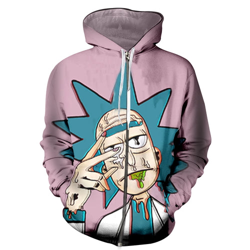 Rick And Morty Hoodie 3D Print