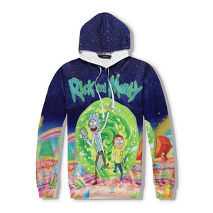Rick and Morty 3D Hoodie Men and Women