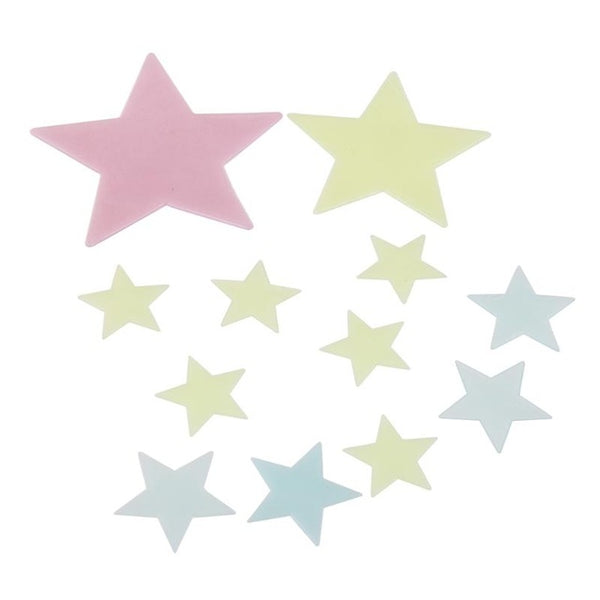 100Pcs 3D Stars Luminous Wall Stickers DIY