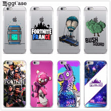 Battle Royale Fortnite Phone Case Soft Silicone TPU Cover Case For Apple iPhone X 8 8Plus 7 7Plus 6 6S Plus 5 5S SE