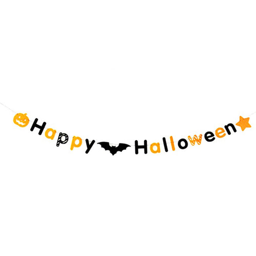 Happy Halloween Bunting Banner Flet Halloween Party Decoration Banners