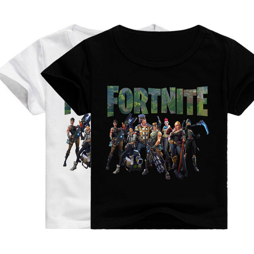 Fortnite 100%Cotton Minecraft Cartoon T Shirt Tees for kids