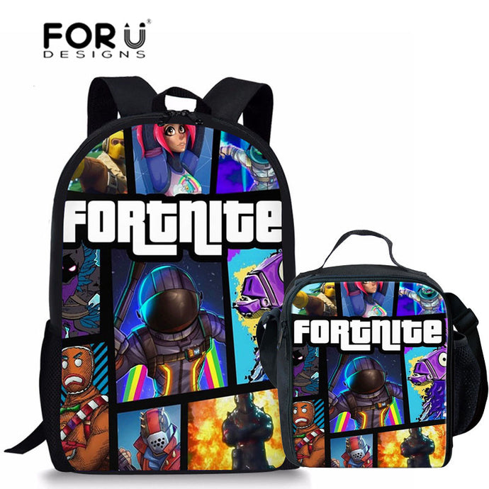 4 Different Styles - School Bags Fortnite Games Pattern